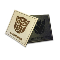 Autobots VS Decepticons Faux Leather coasters