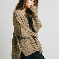 Free People Womens Teddy Bear Pullover