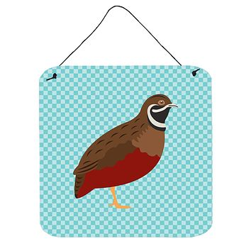 Chinese Painted or King Quail Blue Check Wall or Door Hanging Prints BB8130DS66