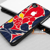 iphone 4 case iphone 4s case iphone 4 cover  beautiful blue and red color design iphone case,the best iphone case 256