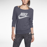 Nike Gym Vintage Crew Women's Top - Dark Grey