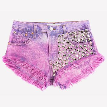 Eclipse Crush Ombre Studded Babe Shorts
