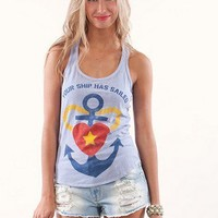 Your Ship Has Sailed Tank | Shop Burnout Tanks and Tees at MessesOfDresses.com