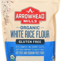 ARROWHEAD MILLS: Flour White Rice Organic, 24 oz