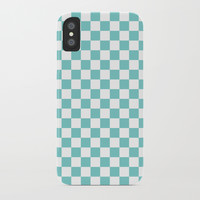 Aqua Checkerboard Pattern by CoolFunAwesomeTime