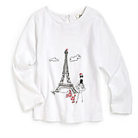MILLY MINIS - Girl's Eiffel Tower Top - Saks Fifth Avenue Mobile