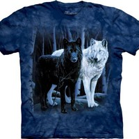 Black and White Wolves T-Shirt, Available in Various Sizes