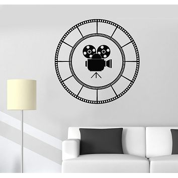 Vinyl Wall Decal Film Cinema Room Camera Movie Lover Stickers Unique Gift (525ig)