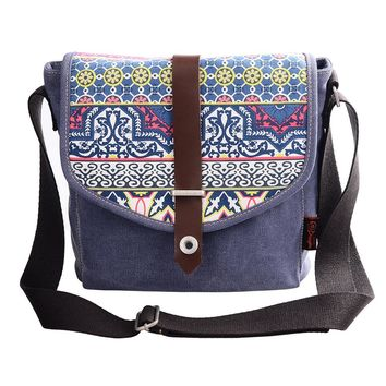 Tribal Style Canvas Crossbody Bag Print Causal Bag