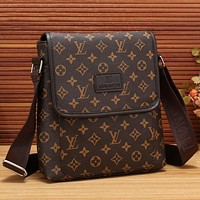 LV Men Office Bag Leather Satchel Shoulder Bag Crossbody