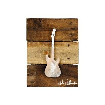 Stratocaster Guitar Wood & Metal Art Wall Decor