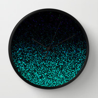 Mint Sparkle Wall Clock by M Studio