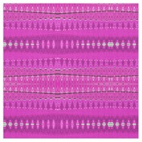 Bright Pink Modern Pattern Fabric