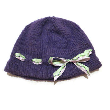 1-3 Year Old Baby Hat Cloche Purple