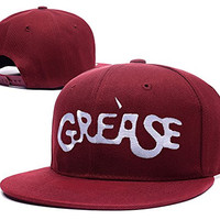 XINMEN Grease Broadway Logo Adjustable Snapback Embroidery Hats Caps - Red