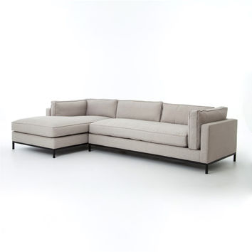 Gramercy 2 Pc Sectional Left Arm Chaise-Bennett Moon