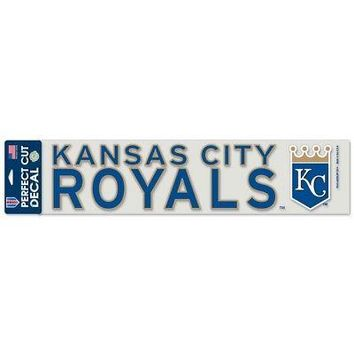 """Licensed Kansas City Royals Official MLB 4""""x17"""" Perfect Cut Car Decal by Wincraft 347763 KO_19_1"""