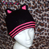Striped Kitty Beanie