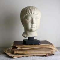 Vintage Male Head, Greek Mythology Bust, Home Decor