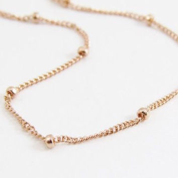 14k Rose Gold Satellite Chain