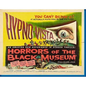 Horrors Of The Black Museum Movie poster Metal Sign Wall Art 8in x 12in
