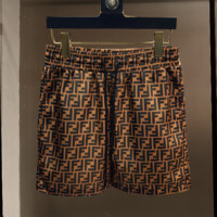 Coffee FENDI Beach Shorts Fashion Casual Summer Wear Holiday Vacation