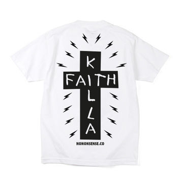 Faith Killa Pocket tee - White