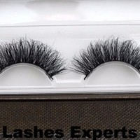 Strip Eyelashes 3D Handmade real mink Fur Long Lashes
