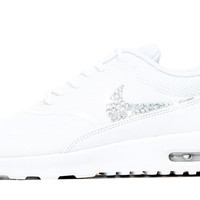 Sale - Nike Air Max Thea +  Swarovski Crystals - Triple White size 7