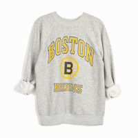 Vintage Boston Bruins Sweatshirt / NHL Hockey Fan Gear / Boston Bruins Hockey - adult small
