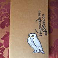 Harry Potter's owl Hedwig Moleskin Notebook Lined and hand painted
