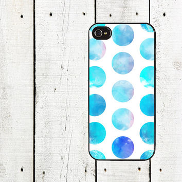 Turquoise Watercolor Dots Phone Case for iphone 5 iphone 5s iphone 5c iphone 4 iphone 4s samsung galaxy s3 s4