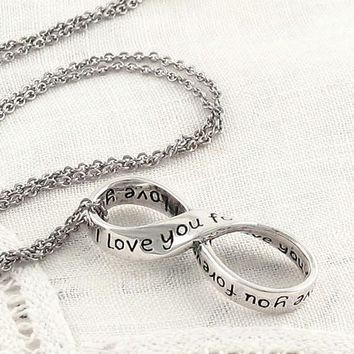 I Love You Forever Necklace - Infinity Symbol in Sterling Silver