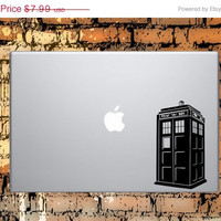 Tardis Macbook Or Laptop Decal