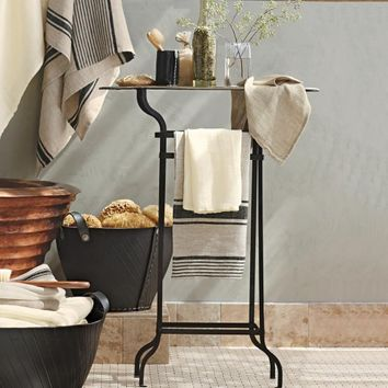 Bathroom Tray Table & Towel Rail