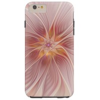 Soft Pink Floral Dream Abstract Modern Flower Tough iPhone 6 Plus Case