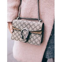 Gucci Fashion Dionysian Single Shoulder Bag Khaki