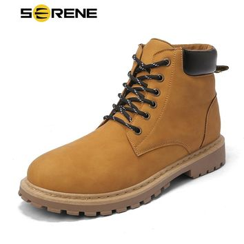 SERENE Brand Mens Boots Timber Westar Shoes Kanye Tamberlinrd Yellow Shoe New Male Timberly Martins Men Winter Cowboy Ankle Boot