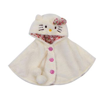 CANIS New Style Toddler Baby Girls Clothes Sleeveless Hooded Cloak Poncho Jacket Outwear Warm Coat Clothes Top