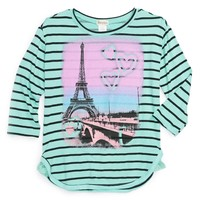 Ten Sixty Sherman Long Sleeve French Terry Top (Little Girls & Big Girls) | Nordstrom