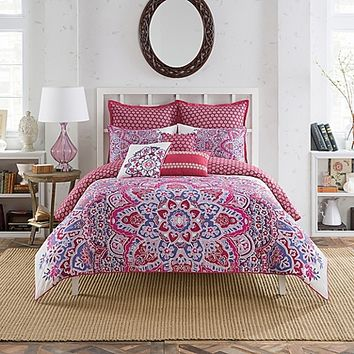 Anthology™ Kaya Reversible Duvet Cover Set in Berry