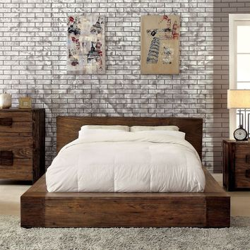 Birdwell Transitional Low Profile Cal-King Bed in Natural