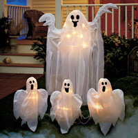 Lighted Ghosts Yard Stakes