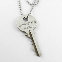 """""""Impossible Girl"""" KEY - Doctor Who Inspired - Whovian necklace"""