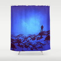 Lost the Moon While Counting Stars III Shower Curtain by Soaring Anchor Designs