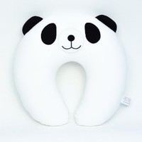Focus-M Micro Beads Travel Neck Pillow, Adult size, Soft, Animal, Cute Panda