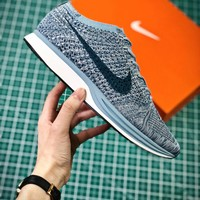 Nike Air Zoom Mariah Flyknit Racer Macaron Pack Blueberry Sport Running Shoes - Best Online Sale