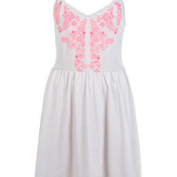 Floru Embroided Cami Dress