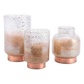 A11237 Eliza Medium Vase Translucent & Copper