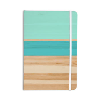"KESS Original ""Spring Swatch - Blue Green"" Teal Wood Everything Notebook"